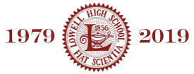 Lowell logo with years 1979 and 2019